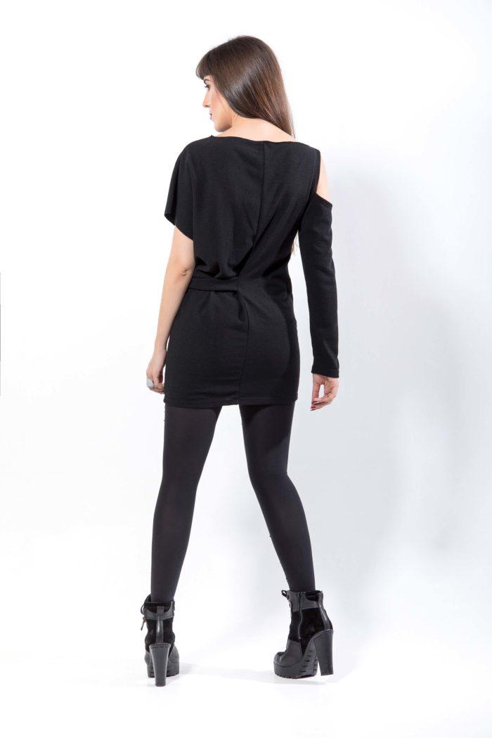 Πλεκτό μπλουζο-φόρεμα