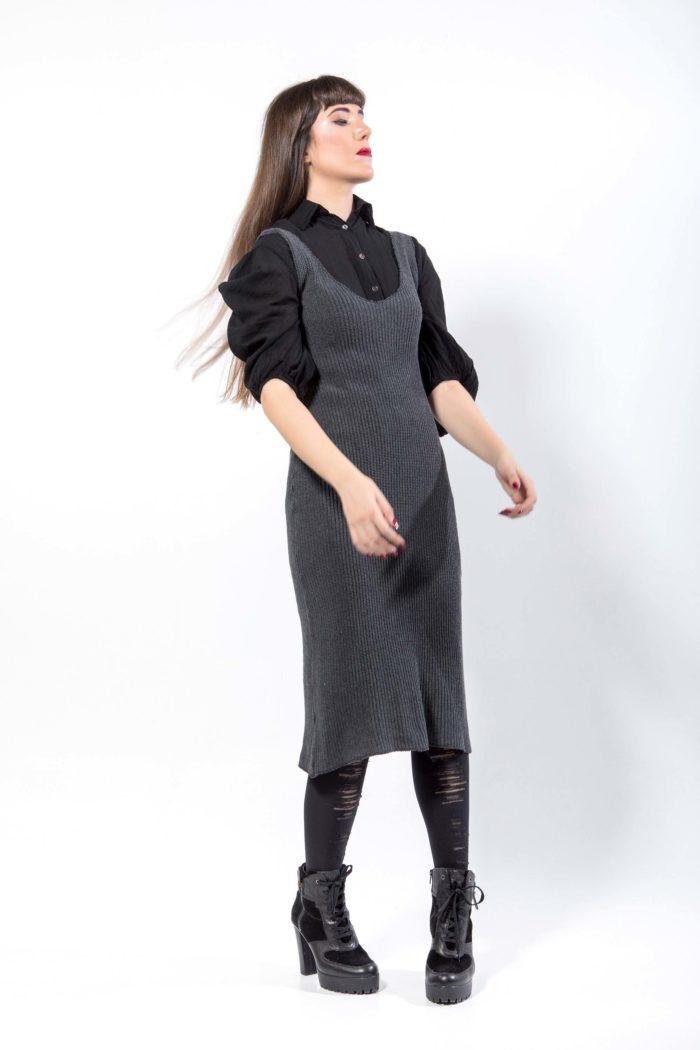 Φόρεμα από πλεκτό, 100% βαμβάκι Ελληνικής κατασκευής